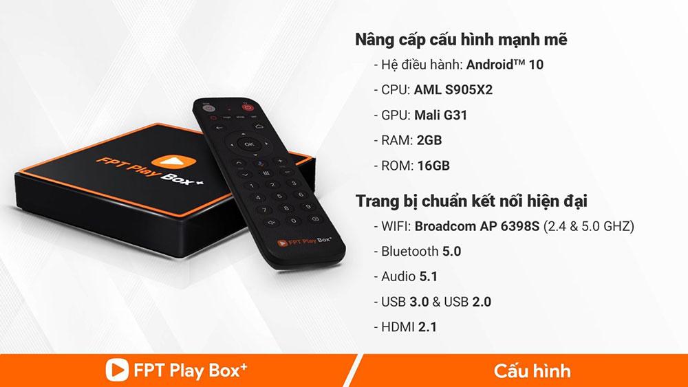 thông số kỹ thuật của fpt play box